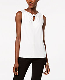 Nine West Twisted Keyhole Top