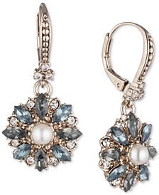 Marchesa Gold-Tone Crystal, Stone & Imitation Pearl Drop Earrings