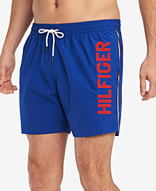 "Tommy Hilfiger Woodfern 6-1/2"" Swim Trunks, Created for Macy's"