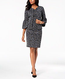 Kasper Jacquard Jacket & Sheath Dress