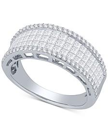 Diamond Princess Ring (1-1/2 ct. t.w.) in 14k White Gold