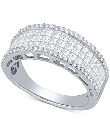Diamond Princess Ring (1-1/2 ct. t.w.) in 14k White Gold