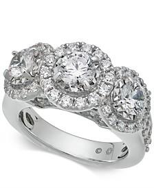 Diamond Triple Halo Ring (3 ct. t.w.) in 14k White Gold