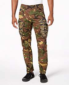 G-Star RAW Men's Rovic 3D Camo-Print Pants, Created for Macy's