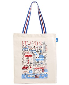 Macy's Exclusive Cityscape Tote Designed By Julia Gash  For Macys New York.