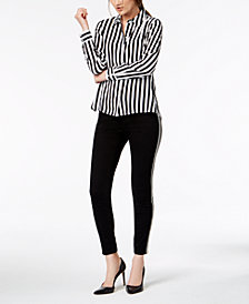 I.N.C. Striped Shirt & Skinny Jeans, Created for Macy's