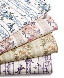 CLOSEOUT! Sanders Cotton Vintage 4-Pc. Sheet Sets