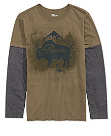 Epic Threads Big Boys Layered-Look Roam Graphic T-Shirt, Created for Macy's