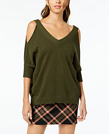 Trina Turk Madison Cotton Cold-Shoulder Sweater