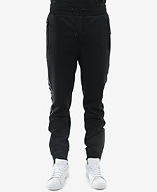 Sean John Men's Classic-Fit Stretch Logo Tape Track Pants