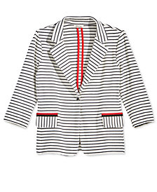 Monteau Big Girls Striped Blazer