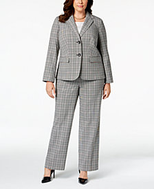 Nine West Plus Size Plaid Blazer & Trousers