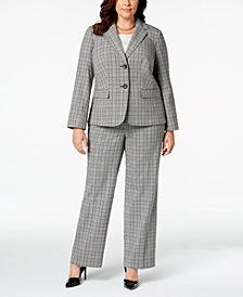 Nine West Plus Size Plaid Blazer & Trousers