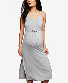 BB Dakota Maternity Drawstring Midi Dress
