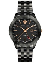 0a699186131d Versace Men s Swiss Business Slim Black Stainless Steel Bracelet Watch 43mm
