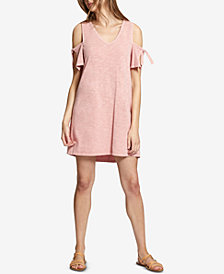 Sanctuary Lakeside Cotton Tie-Sleeve Cold-Shoulder Dress
