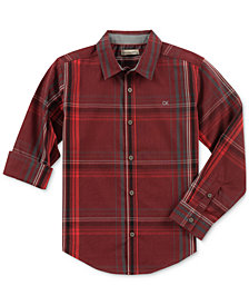 Calvin Klein Big Boys Plaid Shirt
