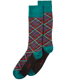 AlfaTech by Alfani Men's Plaid Socks, Created for Macy's