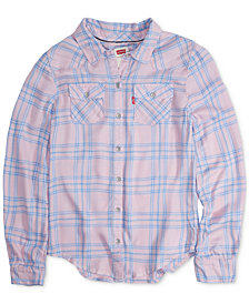 Levi's® Big Girls Cotton Plaid Shirt
