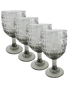 EuroCeramica Fez Wine Glasses, Set of 4