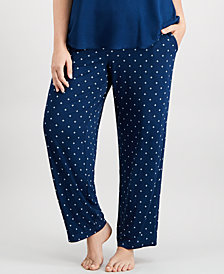 Alfani Plus Size Printed Pajama Pants, Created for Macy's