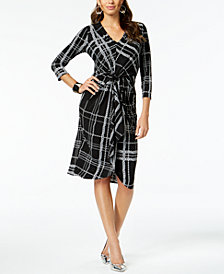 Thalia Sodi Printed Knot-Front Dress, Created for Macy's