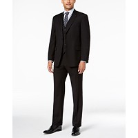 Tommy Hilfiger Mens Modern-Fit THFlex Stretch Twill Vested Suit