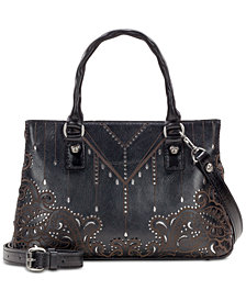 Patricia Nash Laser Cut Angela Satchel