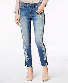 Vintage America Wonderland Printed Vented Skinny Jeans