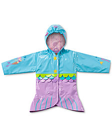 Kidorable Toddler Girls Mermaid All-Weather Rain Coat