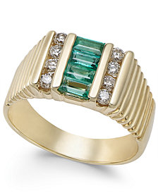 Men's Emerald (3/4 ct. t.w.) & Diamond (2/5 ct. t.w.) Ring in 14k Gold
