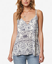 O'Neill Juniors' Maxine Printed Strappy Tank Top