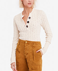 Free People All My Friends Knit Henley