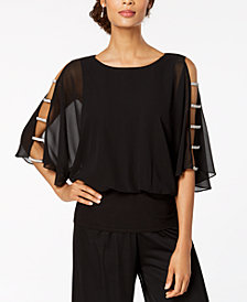 MSK Embellished-Sleeve Top