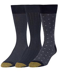 Gold Toe Men's 3-Pk. Extended-Size Dress Socks