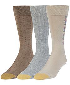 Gold Toe Men's 3-Pk. Extended-Size Crew Socks