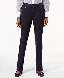 Charter Club Petite Straight-Leg Ankle Pants, Created for Macy's