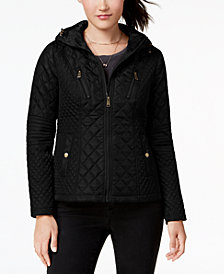 Sebby Juniors' Hooded Quilted Coat