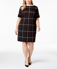 Alfani Plus Size Printed Sheath Dress, Created for Macy's