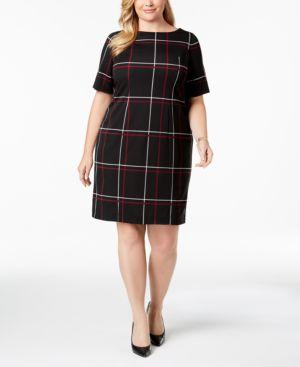 Image of Alfani Plus Size Printed Sheath Dress, Created for Macy's