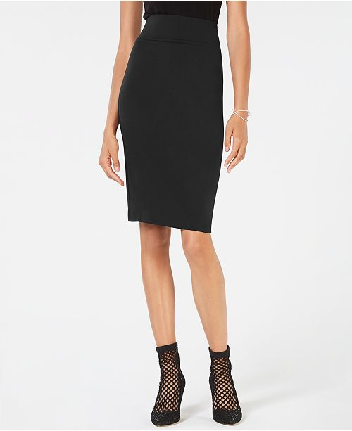 INC International Concepts I.N.C. Curvy-Fit Ponte Pencil Skirt, Created for Macy's