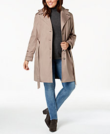 Calvin Klein Plus Size Waterproof Trench Coat