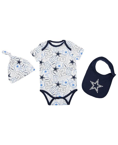 Authentic Nfl Apparel Dallas Cowboys Tuffy Bib Set Infants 0 9