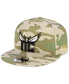 New Era Charlotte Hornets Combo Camo 9FIFTY Snapback Cap
