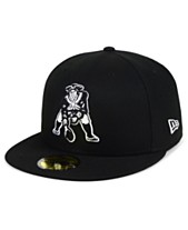 New Era New England Patriots Black And White 59FIFTY Fitted Cap 813c11094