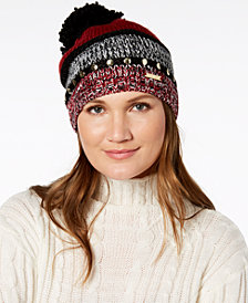 MICHAEL Michael Kors Studded Colorblocked Knit Beanie