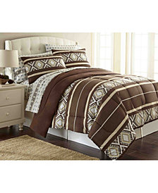 Micro Flannel® King Awning Stripe Comforter Mini Set