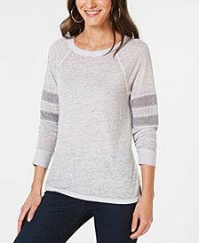 I.N.C. Varsity-Stripe Top, Created for Macy's