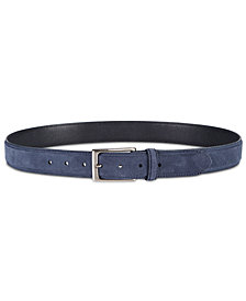 Tasso Elba Men's Faux-Suede Belt, Created for Macy's