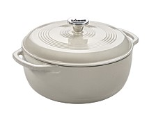 6-qt. Oyster White Dutch Oven